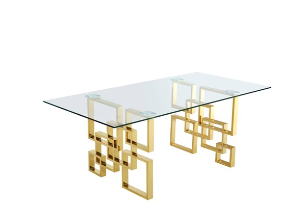 Design Edge Boonah  Gold Dining Table DE-21995159