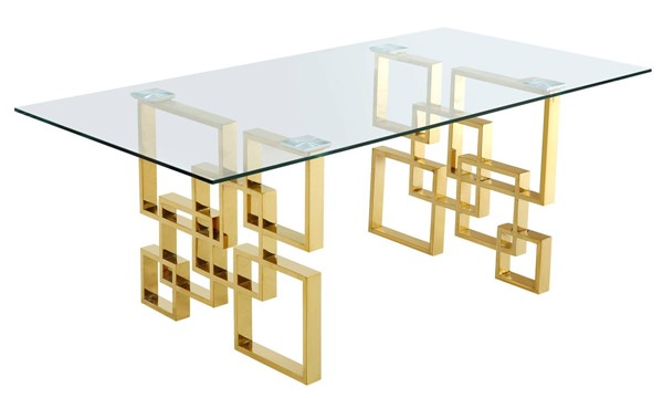 Meridian Furniture Pierre Gold Dining Table MRD-714-T