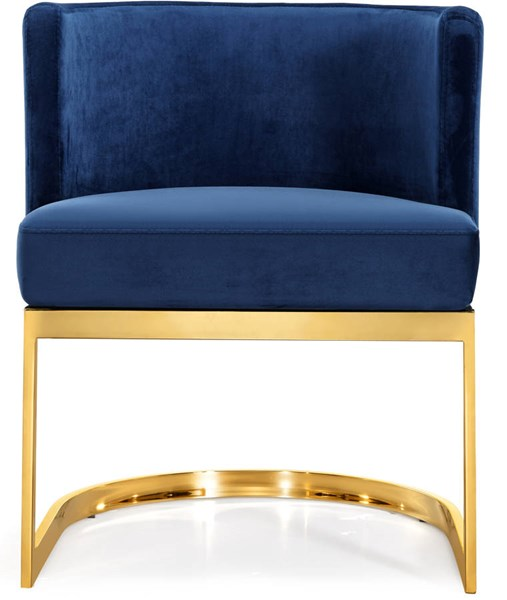 Design Edge Port Macquarie  Navy Velvet Gold Base Dining Chair DE-22248988