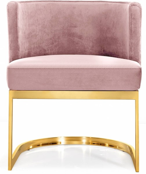 Design Edge Port Macquarie  Pink Velvet Gold Base Dining Chair DE-22821478