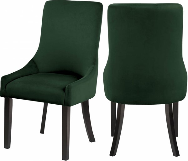 2 Meridian Furniture Demi Green Velvet Dining Chairs MRD-723Green-C