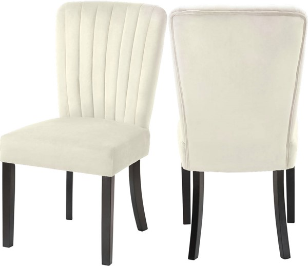 Design Edge Dalby  Cream Velvet Dining Chairs DE-23273539