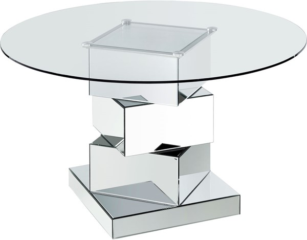 Meridian Furniture Haven Chrome Dining Table MRD-726-T