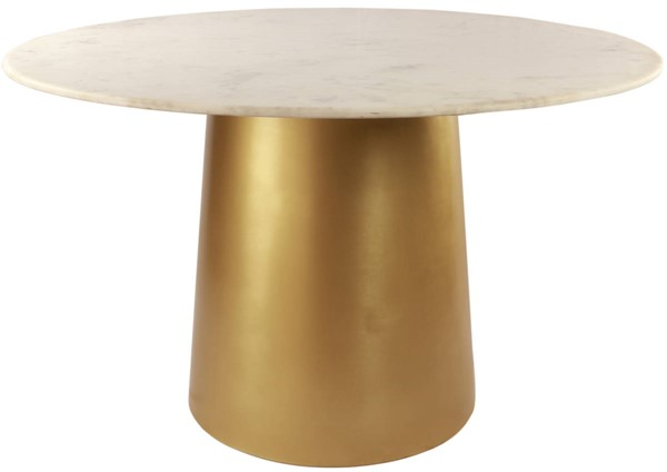 Meridian Furniture Sorrento Brushed Gold Metal Dining Table MRD-727-T