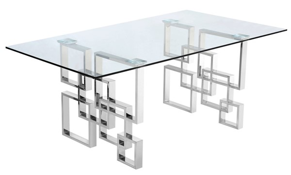 Meridian Furniture Alexis Chrome Dining Table MRD-731-T