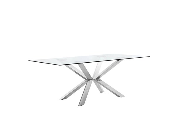 Design Edge Tullamore  Chrome Dining Table DE-21995385