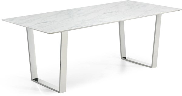 Meridian Furniture Carlton Silver Dining Table MRD-735-T