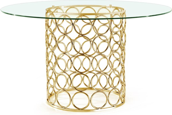 Meridian Furniture Opal Gold Dining Table MRD-737-T