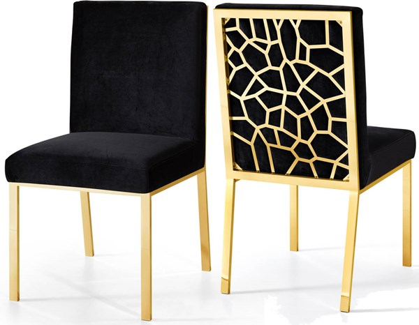 Design Edge Bedourie  Black Gold Dining Chairs DE-22250190