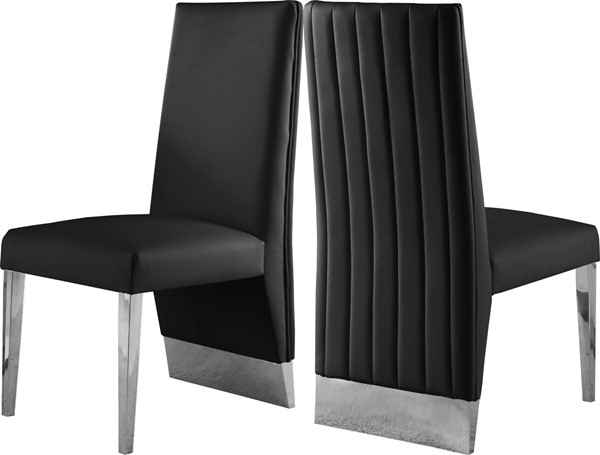 Meridian Furniture Porsha Dining Chairs MRD-750Black-CH-VAR