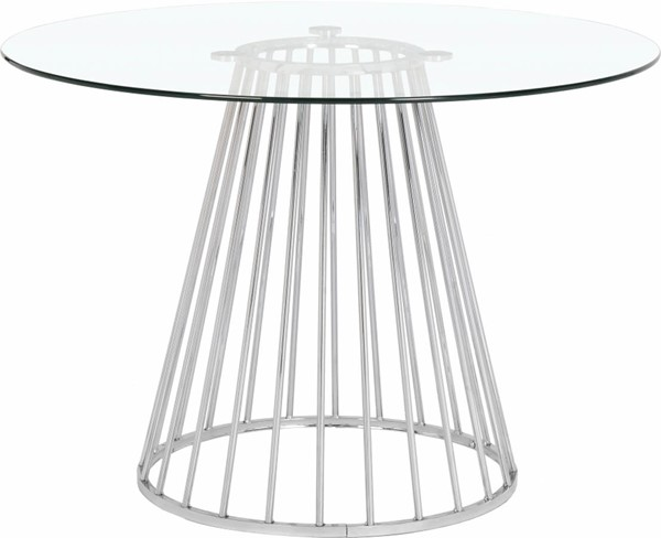 Meridian Furniture Gio Chrome Metal Dining Table MRD-752-T