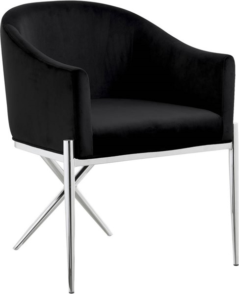 Design Edge Inglewood  Black Chrome Dining Chairs DE-23273608
