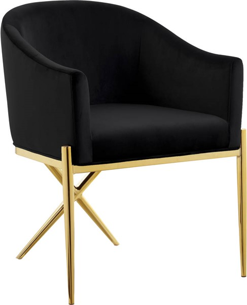 Design Edge Inglewood  Black Gold Dining Chair DE-23273658