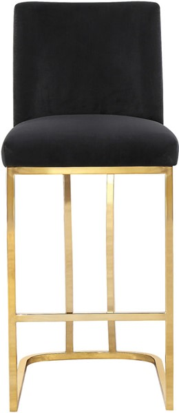 Meridian Furniture Heidi Black Velvet Stool MRD-777Black-C