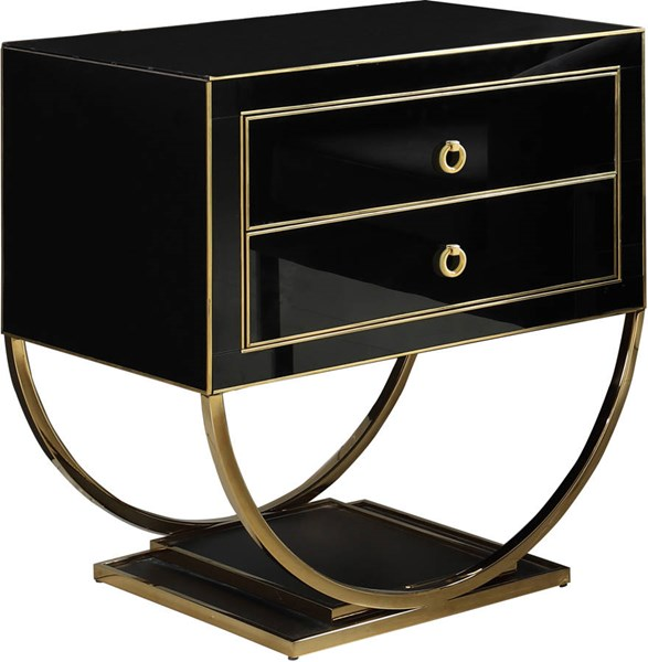 Meridian Furniture Alyssa Black Gold Side Tables MRD-805-806-ET-VAR