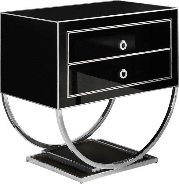 Meridian Furniture Alyssa Black Side Table MRD-807