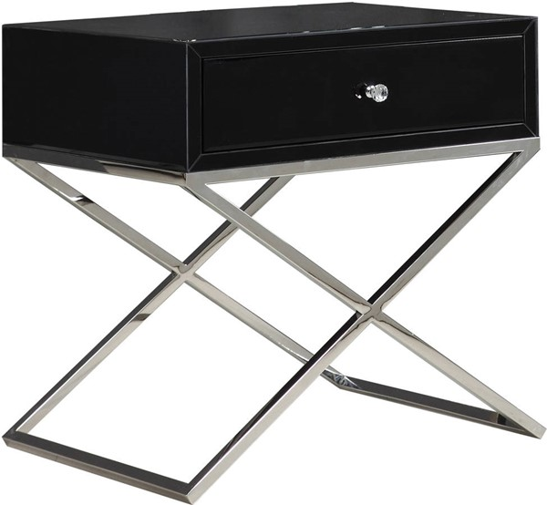 Meridian Furniture Lynn Black Side Table MRD-811