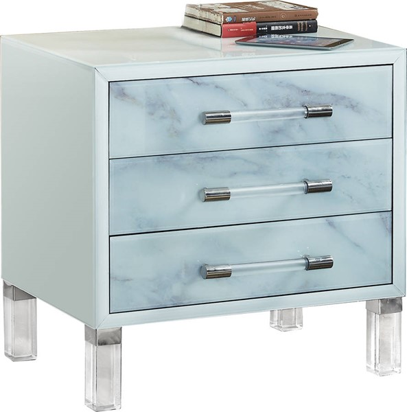 Meridian Furniture Modica Carrera Side Table MRD-814