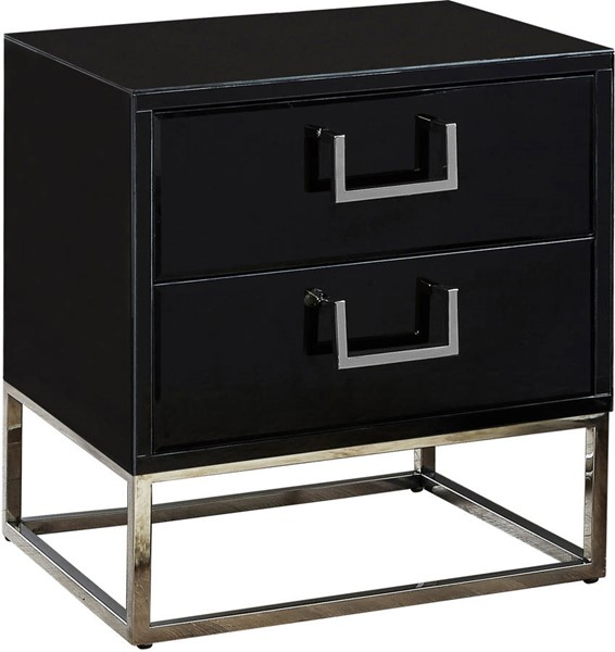 Design Edge Barcaldine  Black Chrome Base Side Table DE-22456800
