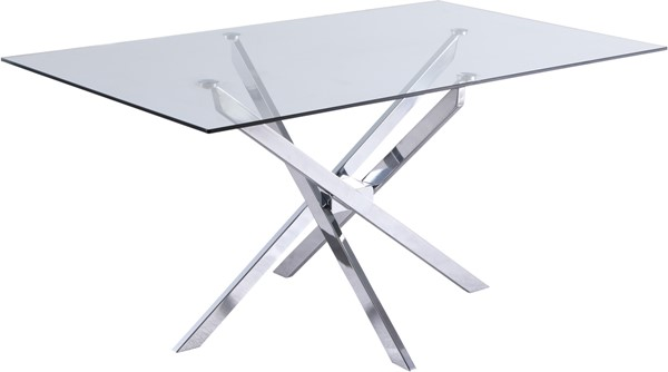 Meridian Furniture Xander Chrome Dining Table MRD-901-T