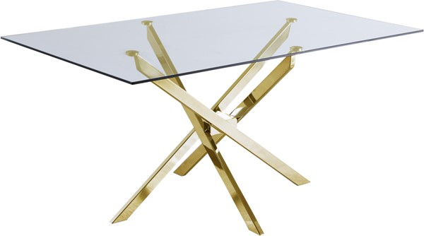 Meridian Furniture Xander Gold Dining Table MRD-902-T