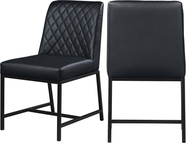 2 Meridian Furniture Bryce Black Faux Leather Dining Chairs MRD-918Black-C