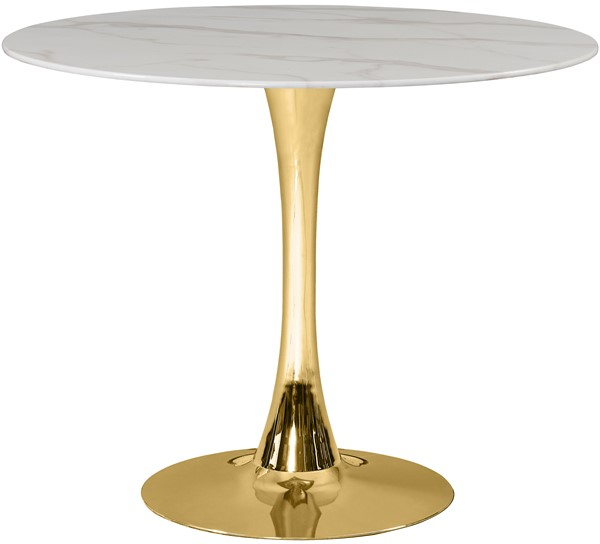 Meridian Furniture Tulip Gold 36 Inch Dining Table MRD-971-T