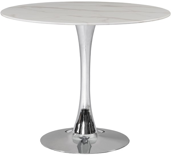 Meridian Furniture Tulip Chrome 36 Inch Dining Table MRD-972-T