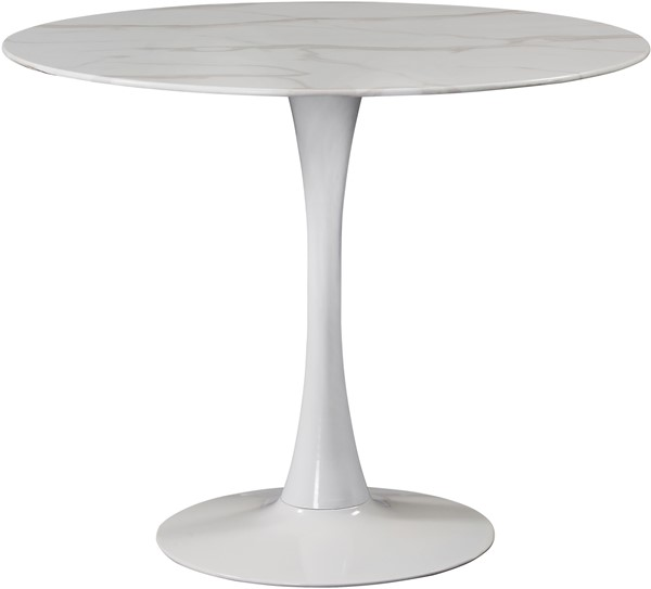 Meridian Furniture Tulip White 36 Inch Dining Table MRD-974-T