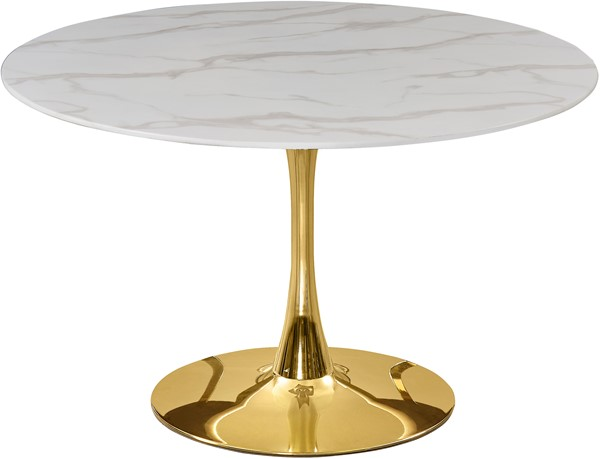 Meridian Furniture Tulip Gold 48 Inch Dining Table MRD-975-T
