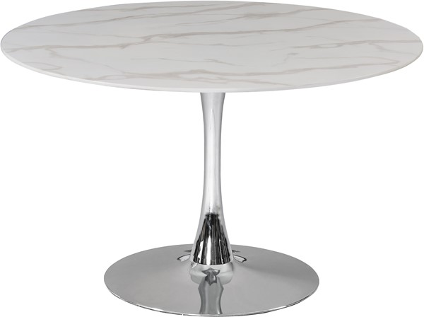 Meridian Furniture Tulip Chrome 48 Inch Dining Table MRD-976-T