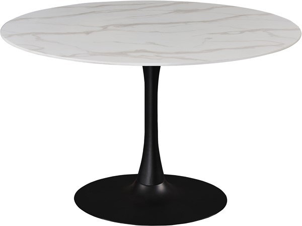 Meridian Furniture Tulip Matte Black 48 Inch Dining Table MRD-977-T
