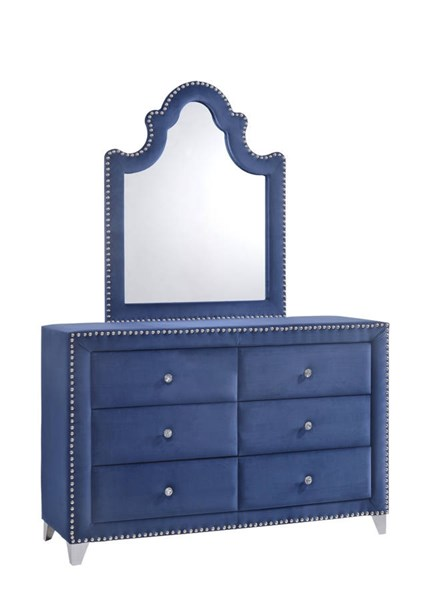 Design Edge Menindee  Navy Dresser and Mirror DE-21995855