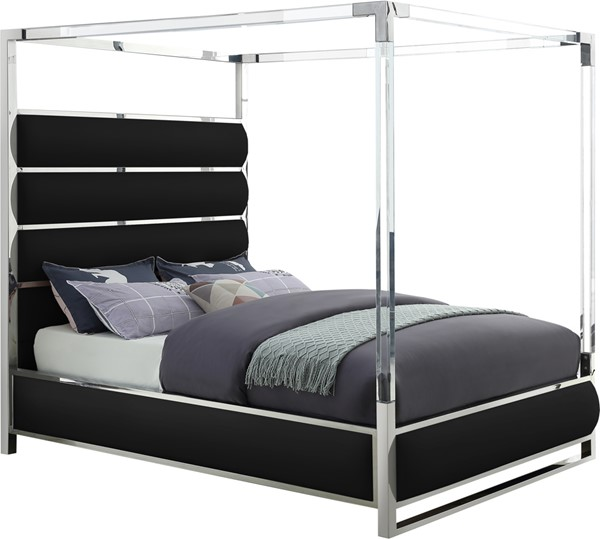 Meridian Furniture Encore Black Queen Bed MRD-EncoreBlack-Q