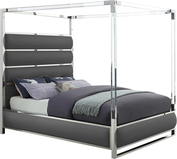 Meridian Furniture Encore Grey Queen Bed MRD-EncoreGrey-Q