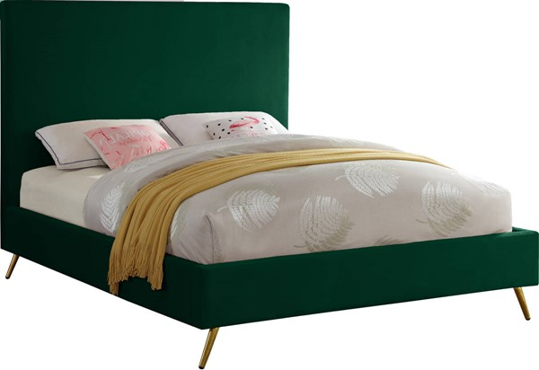 Design Edge Thirlmere  Green Velvet Beds DE-23463358