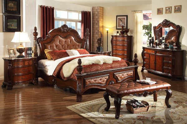Meridian Furniture Luxor Rich Cherry Master Bedroom Set MRD-LUXOR-BR