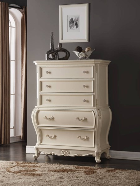 Meridian Furniture Marquee White Chest The Classy Home