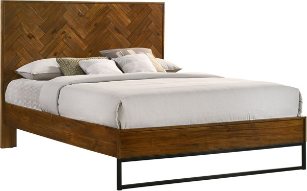 Meridian Furniture Reed Coffee Queen Bed MRD-Reed-Q