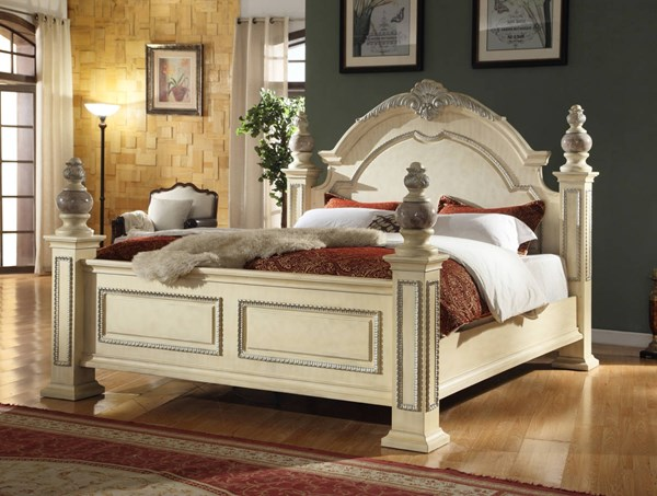 Meridian Furniture Sienna White King Panel Bed MRD-Sienna-Panel-K