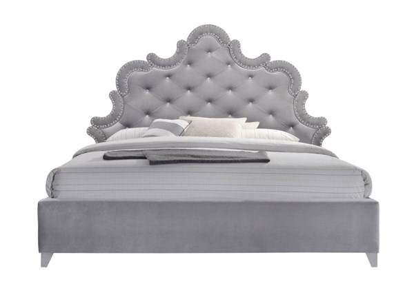 Meridian Furniture Sophie Grey Queen Bed MRD-Sophie-Q