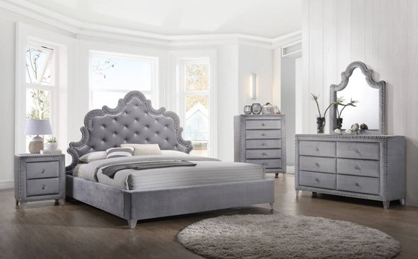 Meridian Furniture Sophie Grey Master Bedroom Set MRD-SOPHIE-BR