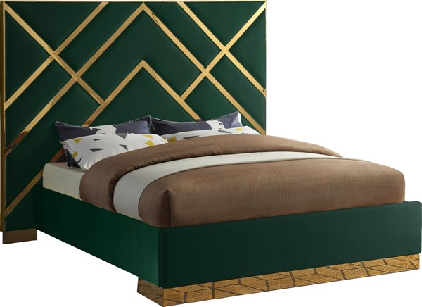 Meridian Furniture Vector Green Queen Bed MRD-VectorGreen-Q