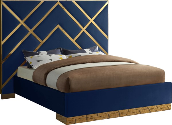 Meridian Furniture Vector Navy King Bed MRD-VectorNavy-K