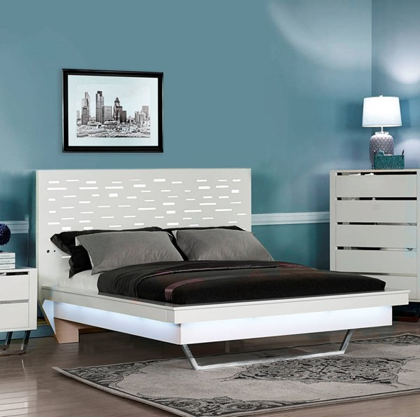 New Classic Furniture Matrix Snow White Beds NCF-00-833-BED-VAR