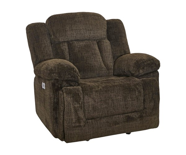 New Classic Furniture Laura Chocolate Full Power Glider Recliner NCF-22-2265-13PH-JCH