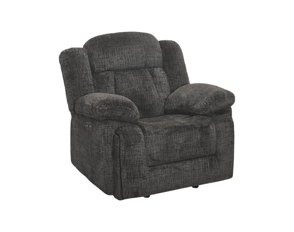 New Classic Furniture Laura Pewter Full Power Glider Recliner NCF-22-2265-13PH-JPT