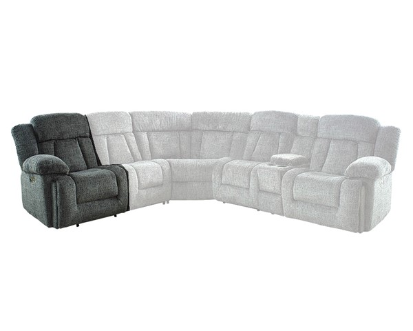 New Classic Furniture Laura Pewter 6pc Sectionals with Power Headrest NCF-22-2265-SEC-S-VAR1