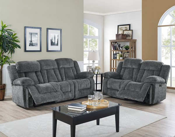 New Classic Furniture Laura Pewter 2pc Power Living Room Set NCF-22-2265-32-LR-S2