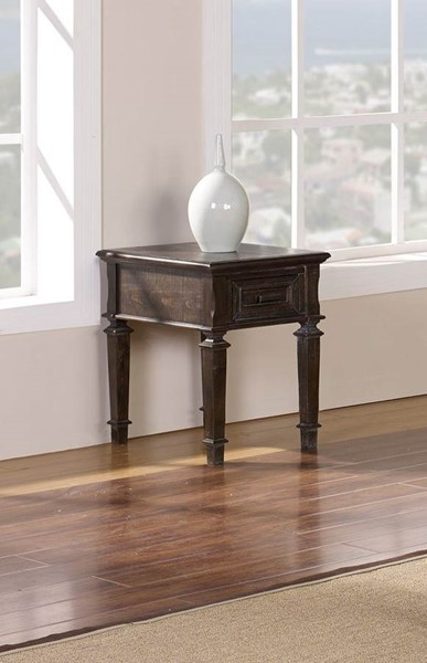 New Classic Furniture Cadiz Wood Chairside Table NCF-30-821-23